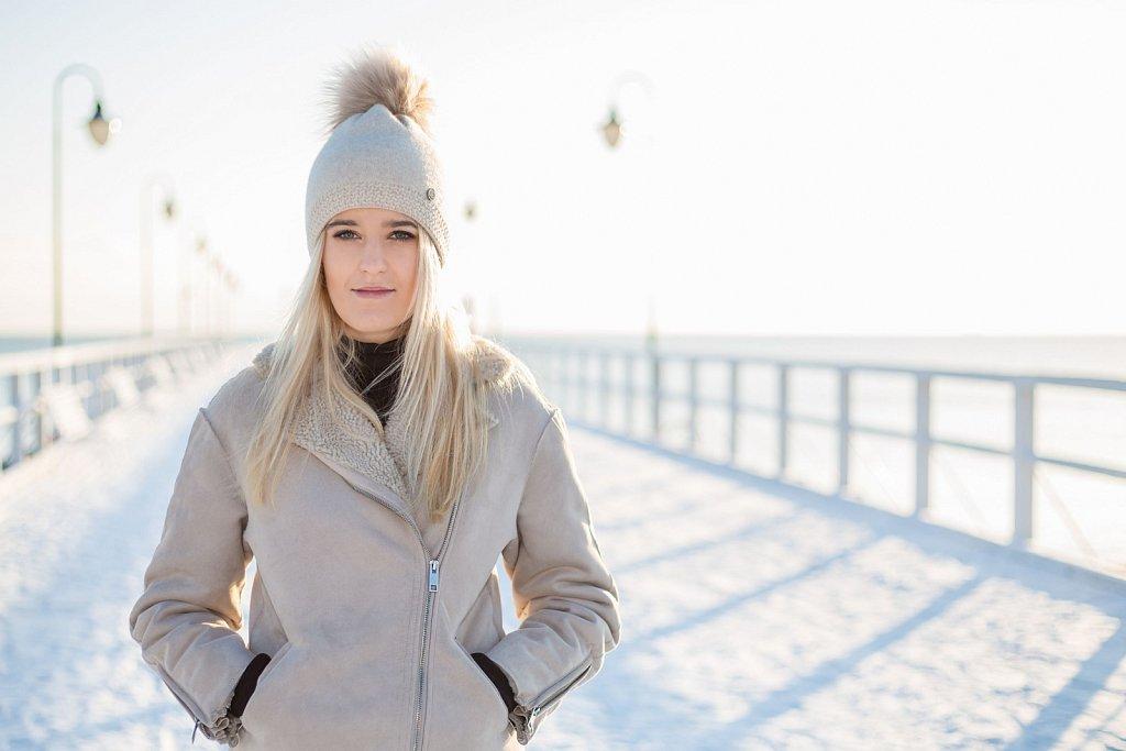 Zimowa sesja plenerowa Pauli