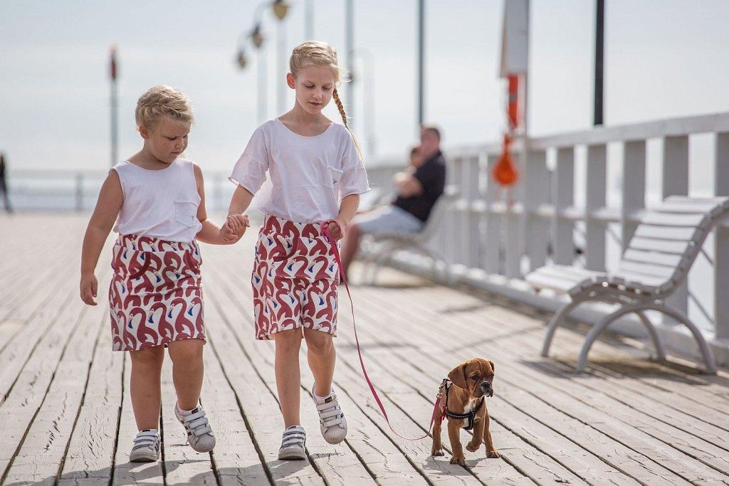 Plener rodzinny Magdy z dziećmi w Gdyni Orłowie